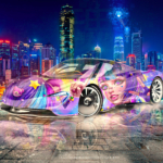 McLaren Speedtail Super Anime Girl Crystal Psychic Soul Chongqing Dongshuimen Bridge Artificial Intelligence Love Car 2021