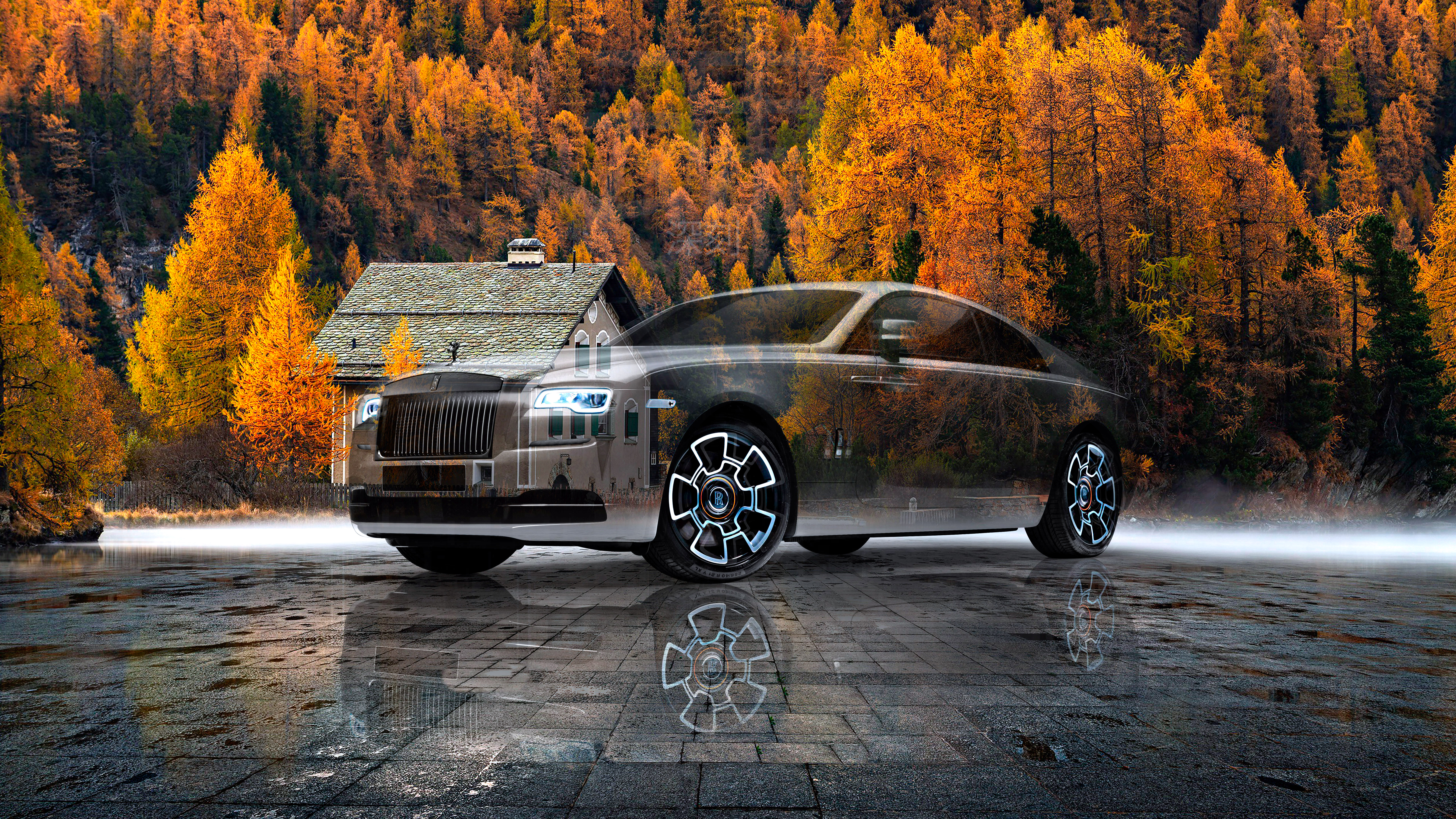 Rolls-Royce-Wraith-Super-Crystal-Serious-Soul-Autumn-Forest-Home-Tactile-Hologram-Art-Car-2021-Multicolors-8K-Wallpapers-by-Tony-Kokhan-www.el-tony.com-image