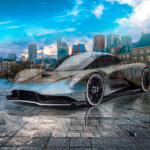 Aston Martin Valhalla Super Crystal Sinful Soul Hague Netherlands Tactile Hologram Art Car 2021