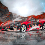 Ferrari 360 Spider Super Anime Girl Crystal Karmic Soul Mountains Artificial Intelligence Karma Art Car 2021