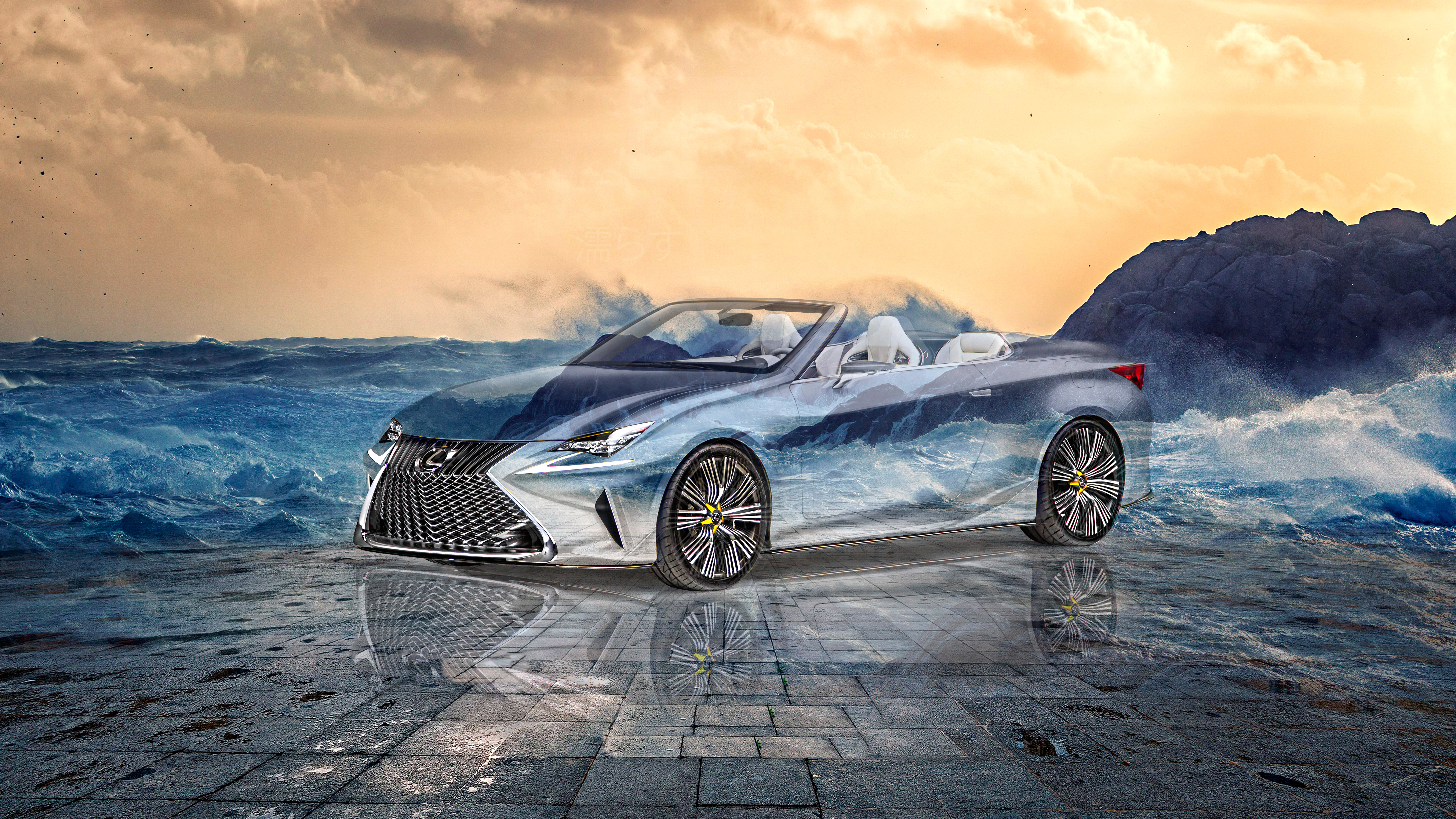 Lexus-LF-C2-Super-Crystal-Wet-Soul-Sea-Water-Waves-Tactile-Hologram-Art-Car-2021-Multicolors-8K-Wallpapers-by-Tony-Kokhan-www.el-tony.com-image