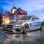Mercedes-Benz AMG SL63 Super Crystal Unfaithful Soul Chillon Castle Switzerland Art Car 2021
