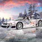 Mercedes-Benz CLK GTR Super Anime Girl Crystal Wolf Soul Winter Artificial Intelligence I Feel Everything Art Car 2021