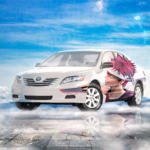 Toyota Camry Super Anime Boy Crystal Protesting Soul Sky Artificial Intelligence No Art Car 2021