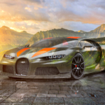 Bugatti Chiron Super Sport 300 Plus Crystal Unbalanced Soul Glacier National Park USA Montana Art Car 2021