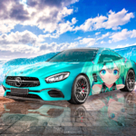 Mercedes-Benz AMG SL63 Super Anime Girl Hatsune Miku Crystal Toxic Soul Sea Artificial Intelligence Internet Art Car 2021