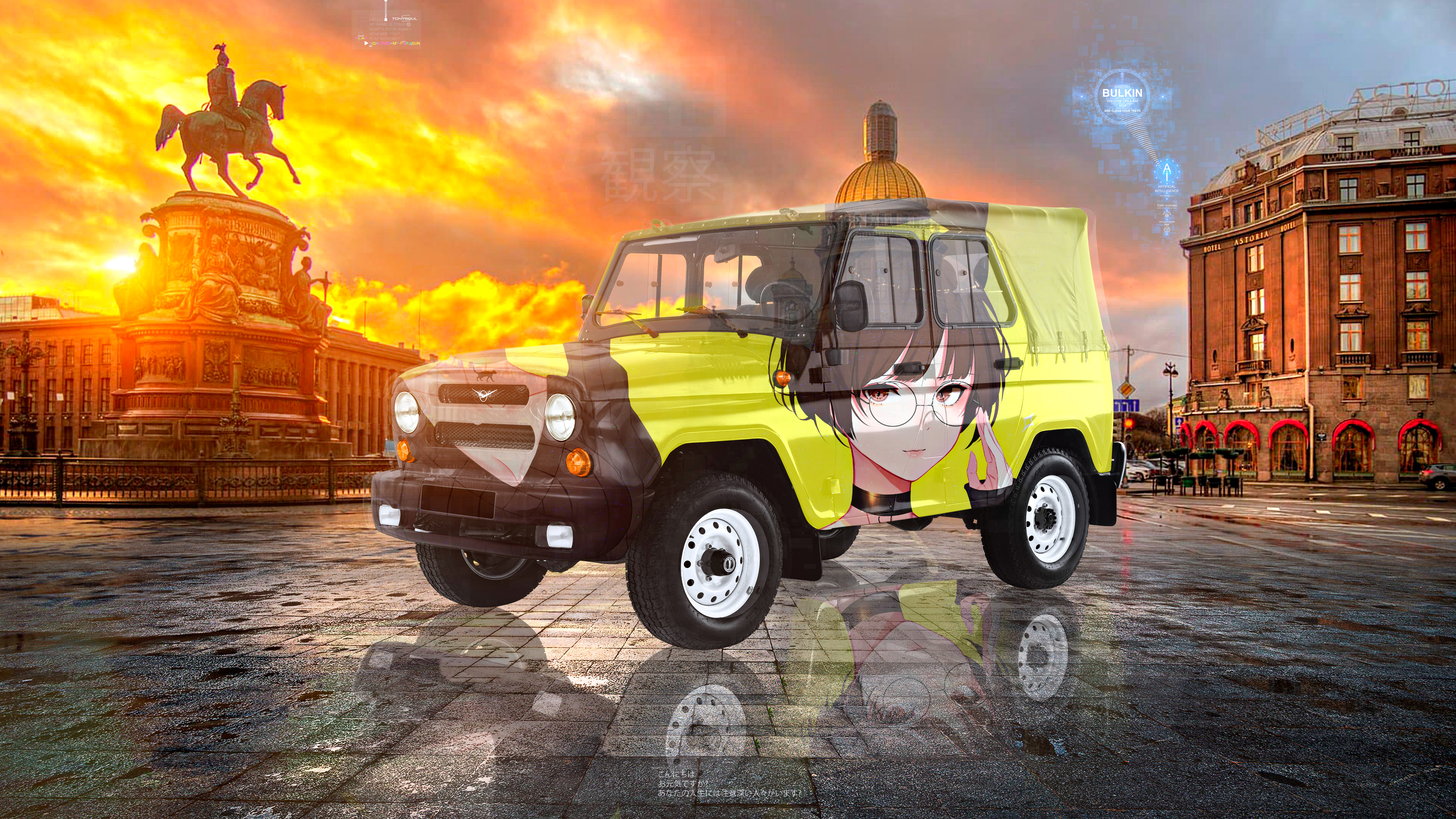 UAZ-Hunter-Super-Anime-Girl-Crystal-Observation-Soul-Saint-Petersburg-Artificial-Intelligence-Bulkin-Car-2021-Multicolors-8K-Wallpapers-by-Tony-Kokhan-www.el-tony.com-image