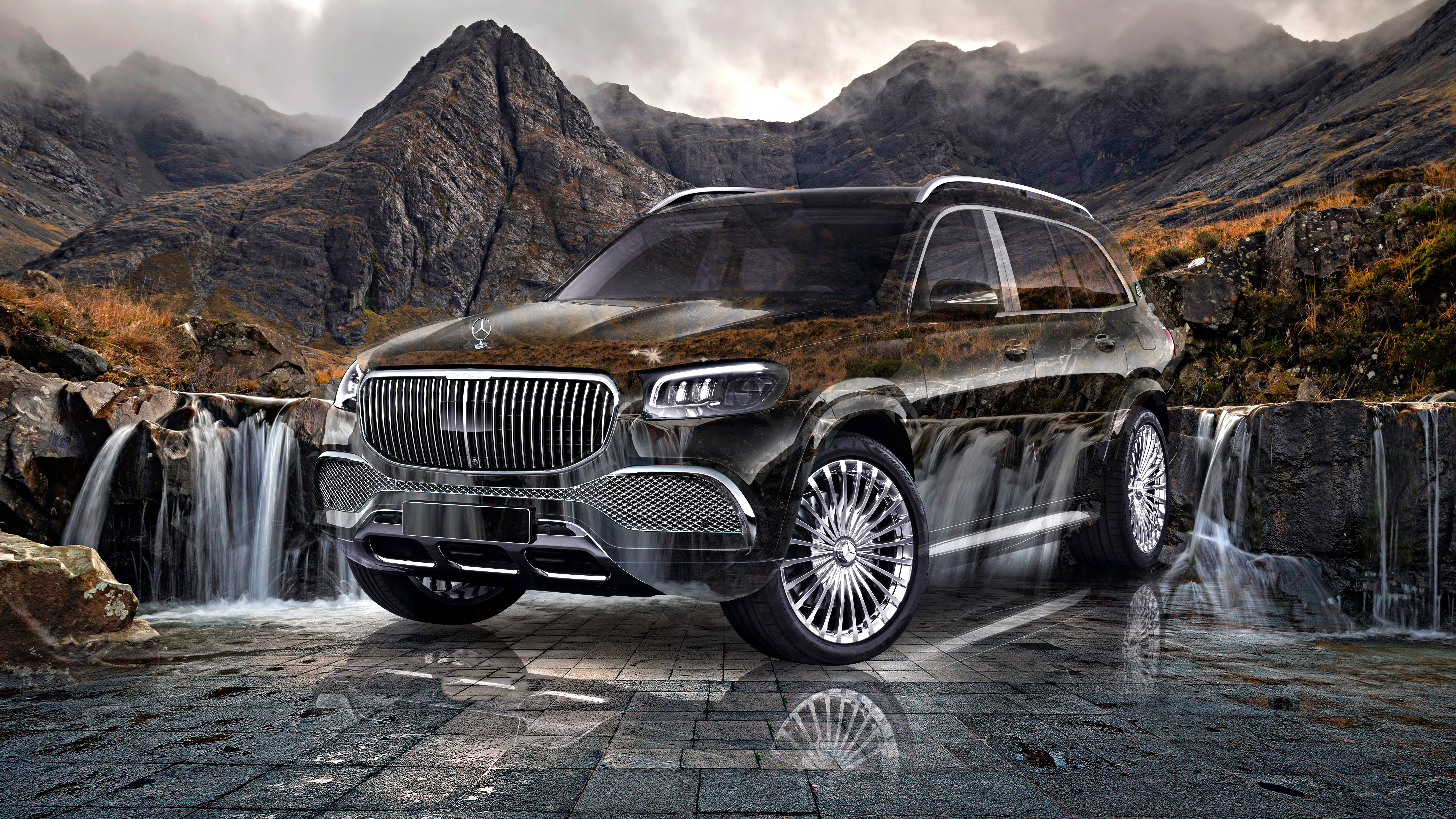 Mercedes-Benz-Maybach-GLS-600-Super-Crystal-Sleep-Soul-Coalpit-Waterfall-Mountains-Tactile-Hologram-Car-2021-Multicolors-8K-Wallpapers-by-Tony-Kokhan-www.el-tony.com-image